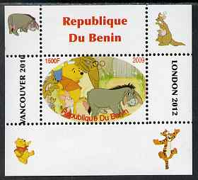 Benin 2009 Pooh Bear & Olympics #02 individual perf deluxe sheet unmounted mint. Note this item is privately produced and is offered purely on its thematic appeal