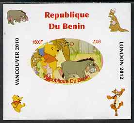 Benin 2009 Pooh Bear & Olympics #02 individual imperf deluxe sheet unmounted mint. Note this item is privately produced and is offered purely on its thematic appeal