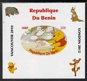 Benin 2009 Pooh Bear & Olympics #03 individual imperf deluxe sheet unmounted mint. Note this item is privately produced and is offered purely on its thematic appeal