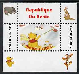 Benin 2009 Pooh Bear & Olympics #04 individual perf deluxe sheet unmounted mint. Note this item is privately produced and is offered purely on its thematic appeal