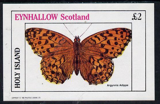 Eynhallow 1982 Butterflies (Argynnis Adippe) imperf deluxe sheet (�2 value) unmounted mint