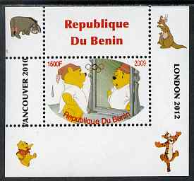 Benin 2009 Pooh Bear & Olympics #05 individual perf deluxe sheet unmounted mint. Note this item is privately produced and is offered purely on its thematic appeal, stamps on films, stamps on cinema, stamps on movies, stamps on bears, stamps on fairy tales, stamps on olympics