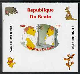 Benin 2009 Pooh Bear & Olympics #05 individual imperf deluxe sheet unmounted mint. Note this item is privately produced and is offered purely on its thematic appeal