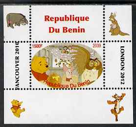 Benin 2009 Pooh Bear & Olympics #06 individual perf deluxe sheet unmounted mint. Note this item is privately produced and is offered purely on its thematic appeal
