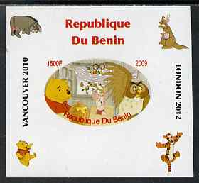 Benin 2009 Pooh Bear & Olympics #06 individual imperf deluxe sheet unmounted mint. Note this item is privately produced and is offered purely on its thematic appeal