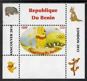 Benin 2009 Pooh Bear & Olympics #08 individual perf deluxe sheet unmounted mint. Note this item is privately produced and is offered purely on its thematic appeal