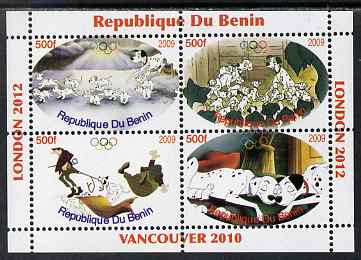 Benin 2009 Disney's 101 Dalmations & Olympics #01 perf sheetlet containing 4 values unmounted mint. Note this item is privately produced and is offered purely on its thematic appeal