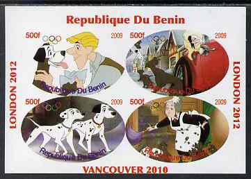 Benin 2009 Disney's 101 Dalmations & Olympics #02 imperf sheetlet containing 4 values unmounted mint. Note this item is privately produced and is offered purely on its thematic appeal