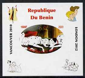 Benin 2009 Disney's 101 Dalmations & Olympics #02 individual imperf deluxe sheet unmounted mint. Note this item is privately produced and is offered purely on its thematic appeal