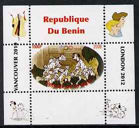 Benin 2009 Disney's 101 Dalmations & Olympics #03 individual perf deluxe sheet unmounted mint. Note this item is privately produced and is offered purely on its thematic appeal