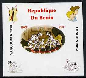 Benin 2009 Disney's 101 Dalmations & Olympics #03 individual imperf deluxe sheet unmounted mint. Note this item is privately produced and is offered purely on its thematic appeal