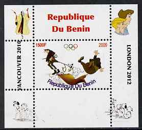 Benin 2009 Disney's 101 Dalmations & Olympics #04 individual perf deluxe sheet unmounted mint. Note this item is privately produced and is offered purely on its thematic appeal
