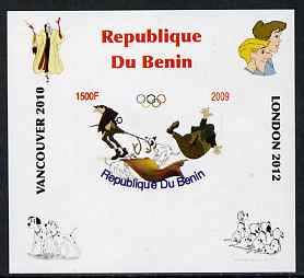 Benin 2009 Disney's 101 Dalmations & Olympics #04 individual imperf deluxe sheet unmounted mint. Note this item is privately produced and is offered purely on its thematic appeal