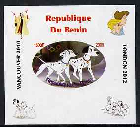 Benin 2009 Disney's 101 Dalmations & Olympics #05 individual imperf deluxe sheet unmounted mint. Note this item is privately produced and is offered purely on its thematic appeal