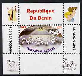 Benin 2009 Disney's 101 Dalmations & Olympics #06 individual perf deluxe sheet unmounted mint. Note this item is privately produced and is offered purely on its thematic appeal