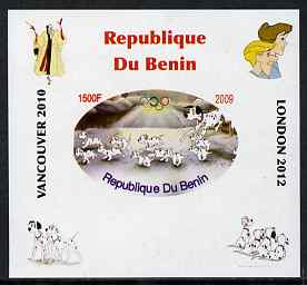 Benin 2009 Disney's 101 Dalmations & Olympics #06 individual imperf deluxe sheet unmounted mint. Note this item is privately produced and is offered purely on its thematic appeal
