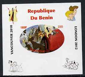 Benin 2009 Disney's 101 Dalmations & Olympics #07 individual imperf deluxe sheet unmounted mint. Note this item is privately produced and is offered purely on its thematic appeal
