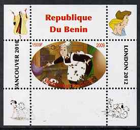 Benin 2009 Disney's 101 Dalmations & Olympics #08 individual perf deluxe sheet unmounted mint. Note this item is privately produced and is offered purely on its thematic appeal