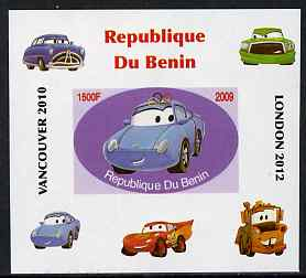 Benin 2009 Disney's Lightning McQueen & Olympics #01 individual imperf deluxe sheet unmounted mint. Note this item is privately produced and is offered purely on its thematic appeal