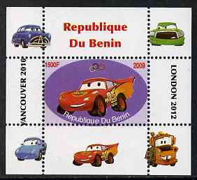 Benin 2009 Disney's Lightning McQueen & Olympics #02 individual perf deluxe sheet unmounted mint. Note this item is privately produced and is offered purely on its thematic appeal