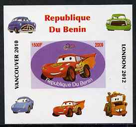 Benin 2009 Disney's Lightning McQueen & Olympics #02 individual imperf deluxe sheet unmounted mint. Note this item is privately produced and is offered purely on its thematic appeal
