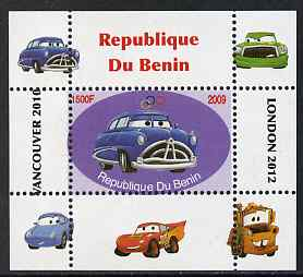 Benin 2009 Disney's Lightning McQueen & Olympics #03 individual perf deluxe sheet unmounted mint. Note this item is privately produced and is offered purely on its thematic appeal