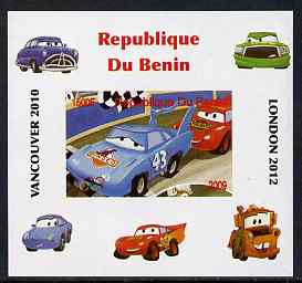Benin 2009 Disney's Lightning McQueen & Olympics #04 individual imperf deluxe sheet unmounted mint. Note this item is privately produced and is offered purely on its thematic appeal