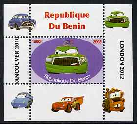 Benin 2009 Disney's Lightning McQueen & Olympics #06 individual perf deluxe sheet unmounted mint. Note this item is privately produced and is offered purely on its thematic appeal