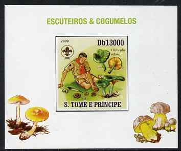 St Thomas & Prince Islands 2009 Scouts & Fungi #02 individual imperf deluxe sheet unmounted mint. Note this item is privately produced and is offered purely on its thematic appeal