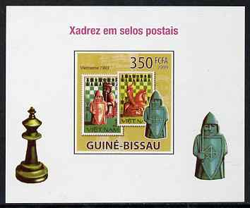 Guinea - Bissau 2009 Chess on Stamps #01 individual imperf deluxe sheet unmounted mint. Note this item is privately produced and is offered purely on its thematic appeal