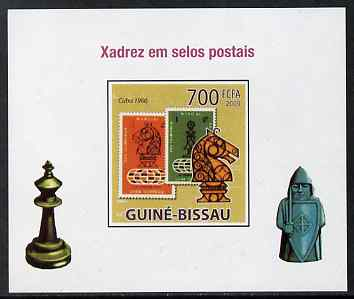 Guinea - Bissau 2009 Chess on Stamps #03 individual imperf deluxe sheet unmounted mint. Note this item is privately produced and is offered purely on its thematic appeal