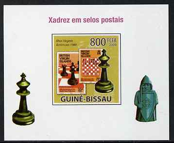 Guinea - Bissau 2009 Chess on Stamps #04 individual imperf deluxe sheet unmounted mint. Note this item is privately produced and is offered purely on its thematic appeal