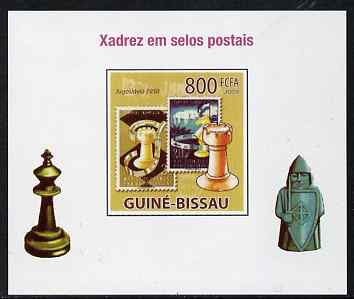 Guinea - Bissau 2009 Chess on Stamps #05 individual imperf deluxe sheet unmounted mint. Note this item is privately produced and is offered purely on its thematic appeal