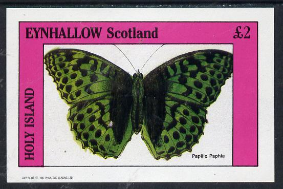 Eynhallow 1982 Butterflies (Papilio Paphia) imperf deluxe sheet (�2 value) unmounted mint