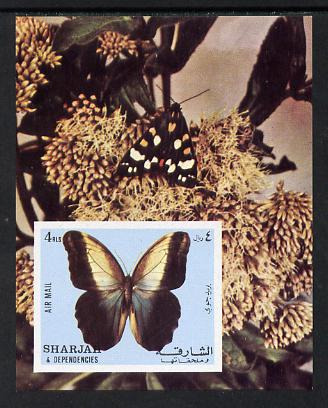 Sharjah 1972 Butterflies imperf m/sheet unmounted mint (Mi BL 118)