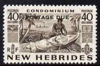 New Hebrides - English 1953 Postage Due 40c blackish-brown unmounted mint SG D14