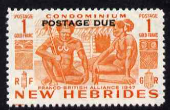 New Hebrides - English 1953 Postage Due 1f orange unmounted mint SG D15