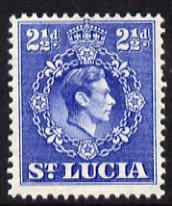 St Lucia 1938-48 KG6 2.5d ultramarine perf 14.5 x 14 unmounted mint SG 132