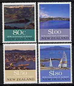 New Zealand 1990 150th Anniversary of European Settlements perf set of 4 unmounted mint, SG 1554-7, stamps on tourism, stamps on sailing