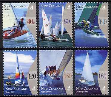 New Zealand 1999 Yachting perf set of 6 unmounted mint, SG 2296-2301