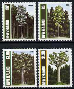 New Zealand 1989 Native Trees perf set of 4 unmounted mint, SG 1511-14