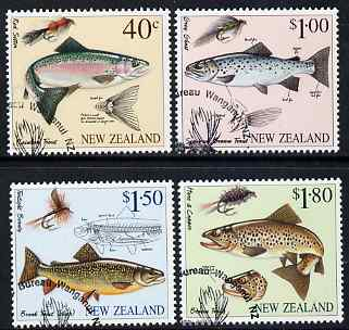 New Zealand 1997 Fly Fishing perf set of 4 fine used, SG 2082-5