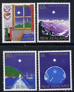 New Zealand 1989 Christmas perf set of 4 unmounted mint, SG 1520-3