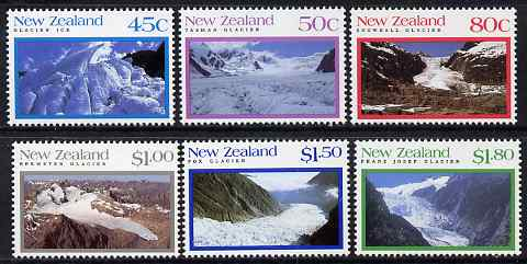 New Zealand 1992 Glaciers perf set of 6 unmounted mint, SG 1675-80