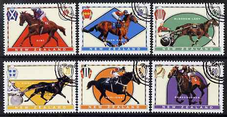 New Zealand 1996 Famous Race Horses perf set of 6 fine used, SG 1945-50, stamps on sport, stamps on horses, stamps on horse racing