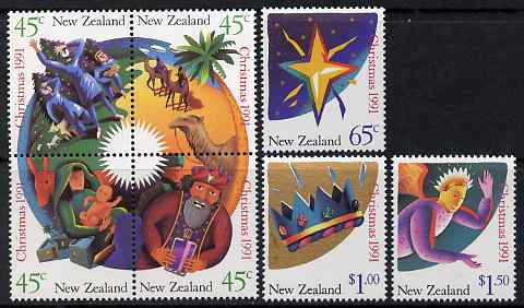 New Zealand 1991 Christmas perf set of 7 unmounted mint, SG 1628-34