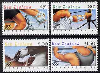 New Zealand 1992 Barcelona Olympic Games - 2nd issue perf set of 4 unmounted mint SG 1670-3