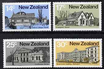 New Zealand 1980 Architecture - 2nd issue perf set of 4 unmounted mint SG 1217-20