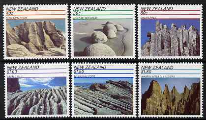 New Zealand 1991 Scenic landscapes perf set of 6 unmounted mint, SG 1614-19