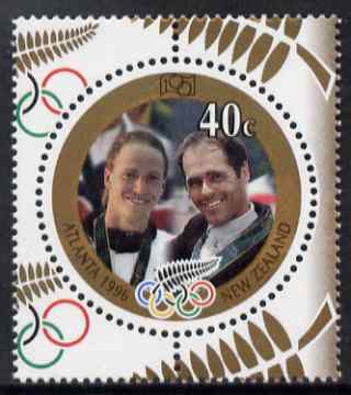 New Zealand 1996 Olympic Gold Medal Winners 40c circular shaped unmounted mint SG 2018
